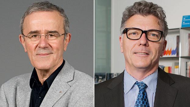 Christoph Schäublin, Präsident des Stiftungsrates (links) und Matthias Frehner, Direktor des Kunstmuseums Bern.