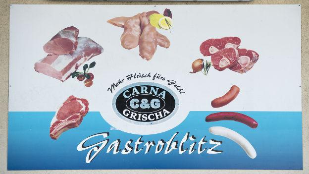 Das Firmenlogo des Bündner Fleischhändlers Carna Grischa.