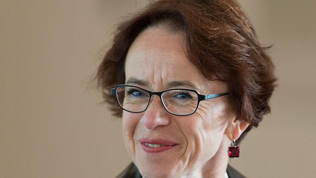 Eva Herzog, Vorsteherin des Finanzdepartements von  Basel am 11. November 2014.
