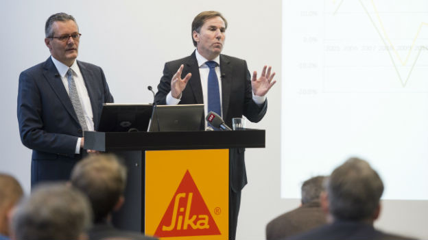 Verwaltungsrtas Präsident Paul Haelg und CEO Jan Jenisch wehren sich gegen den SIKA-Verkauf