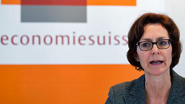 Ein Portraitbild von Economiesuisse-Direktorin Monika Rühl.