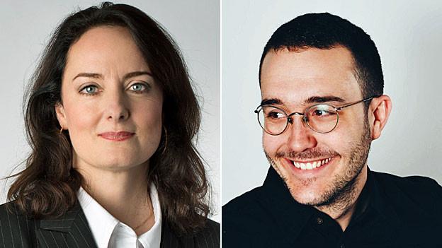 Portraits von Daniella Lützelschwab und Remo Bitzi.