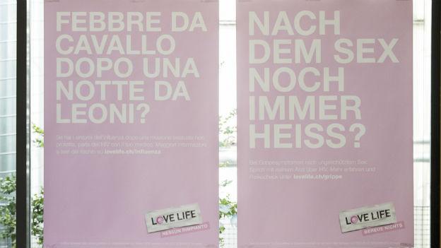 """Plakat der neuen HIV-Kampagne """"Love Life"""""""