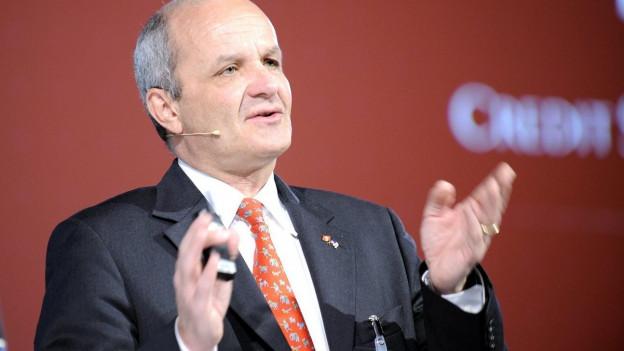 Zu sehen ist Martin Naville, Geschäftsführer der Schweizerisch-Amerikanischen Handelskammer auf einer Aufnahme von 2009