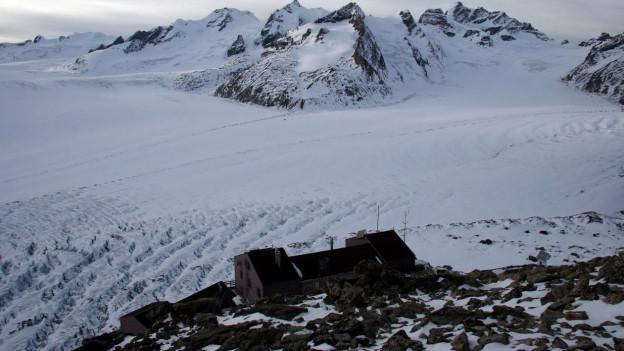 Aufnahme der Konkordiahütte im Wallis.