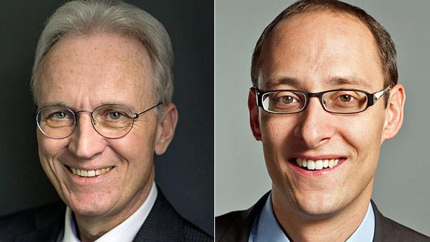 Portraits von Hans-Ulrich Bigler und Martin Candinas.