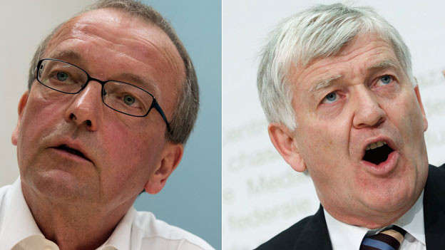 Portraits von Hans-Jürg Fehr und Bruno Frick.