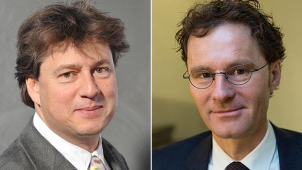 Zwei Ökonomen - zwei Meinungen: Reiner Eichenberger, Leiter des Seminars für Finanzwissenschaft an der Universität Freiburg (links) und Daniel Lampart, Chefökonom SGB.