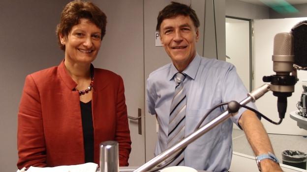 Ursula Schneider Schüttel (SP) und Luzi Stamm (SVP) im Studio.