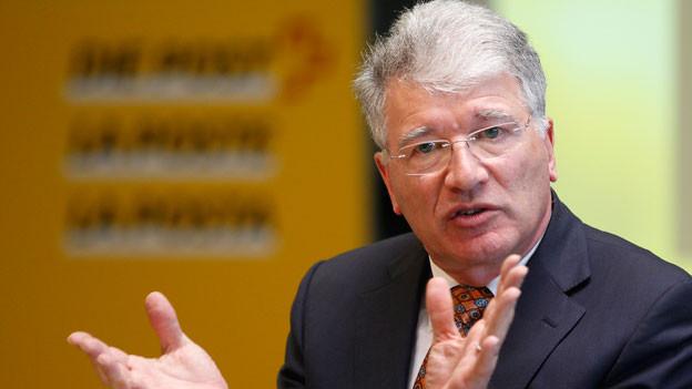 Peter Hasler anlässlich einer Präsentation in Bern im 2013.