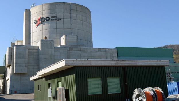 Aussenansicht des Kernkraftwerks in Döttingen.