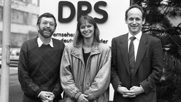 Aufnahme von Walter Eggenberger, Jana Caniga und Jürg Wildberger (v.l.n.r.).