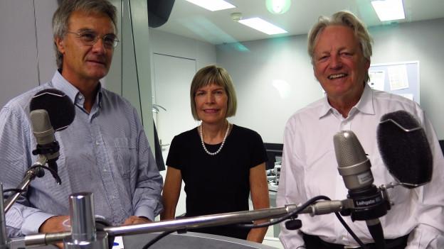 Die Teilnehmer der Freitagsrunde von links nach rechts: Peter Bertschi, Erika Forster und Thomas Held