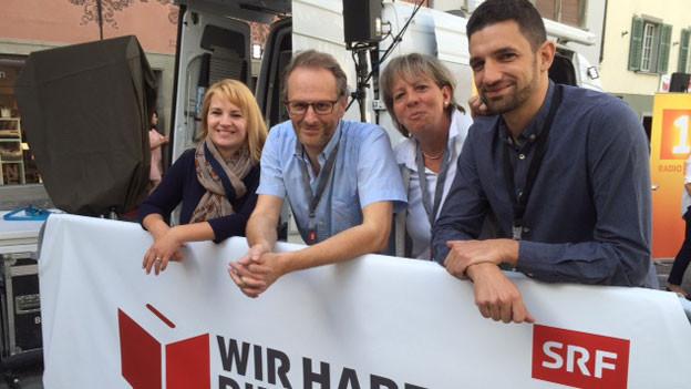 Isabelle Maissen, Daniel Hofer, Danièle Hubacher und Andi Lüscher (von links).