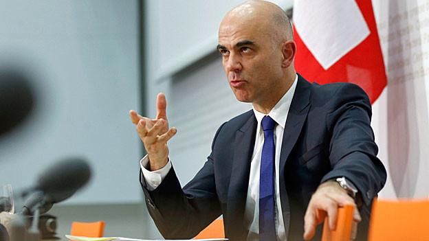 Bundesrat Alain Berset. Portraitbild.