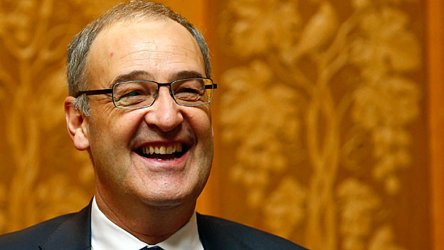Guy Parmelin, der neue Bundesrat der SVP. Portraitbild.