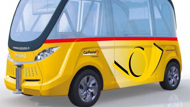 Modell eines selbstfahrenden Busses