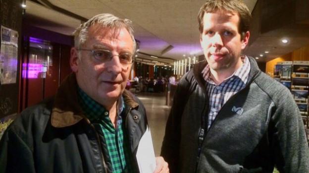 Hans Fritschi, Vizepräsident Pro Natura Berner Oberland und Matthias In-Albon, Geschäftsführer Bergbahnen Destination Gstaad AG