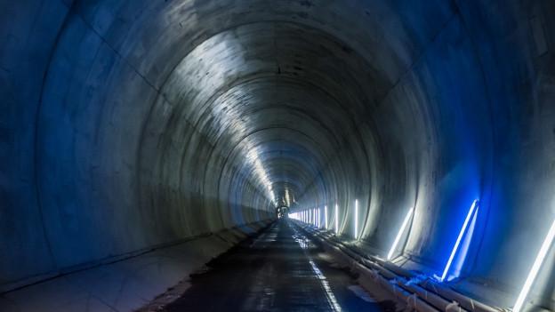 Ein Blick in den Ceneri-Basistunnel.