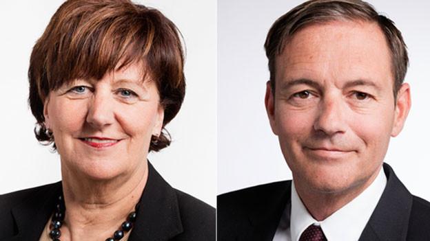 Ida Glanzmann, Nationalrätin der CVP des Kantons Luzern (links) und Martin Naef, Nationalrat der SP des Kantons Zürich.