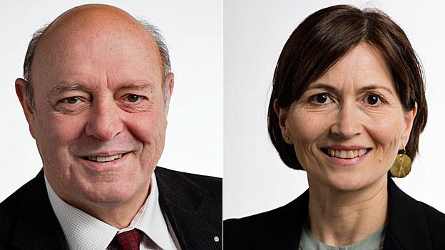 Ulrich Giezendanner und Regula Rytz. Portraitbilder.