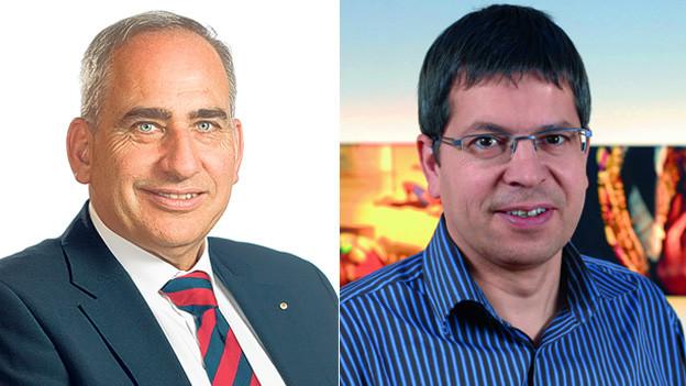 Martin Laupper, Gemeindepräsident Glarus Nord (links) und Tobias Meier, Präsident Swiss Fair Trade.