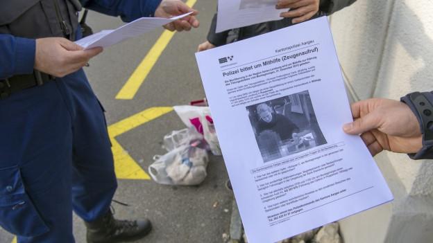 Zeugenaufrufe der Polizei im Fall Rupperswil.