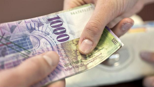 Die 1000er-Note ist immer noch ein beliebtes Zahlungsmittel
