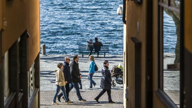 Touristen in Ascona.
