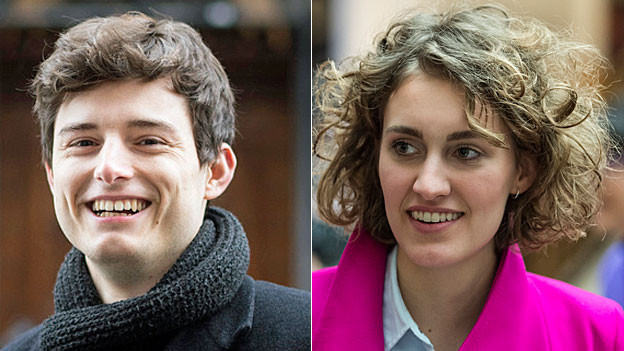 Benjamin Fischer und Flavia Kleiner. Portraitbilder.