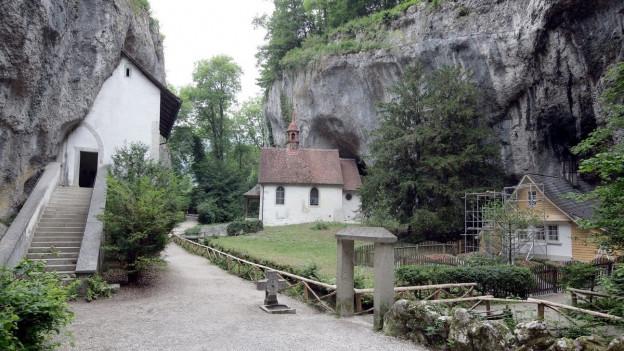 Ein Blick auf die Einsiedelei in Solothurn