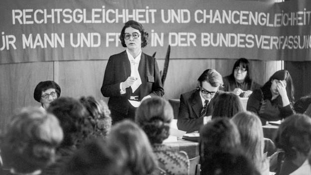 Frauenkongress in den 1960-er Jahren in der Schweiz.