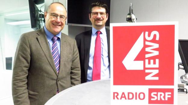 Das Bild zeigt den Baselbieter SP-Ständerat Claude Janiak und den Walliser CVP-Nationalrat Yannick Buttet.
