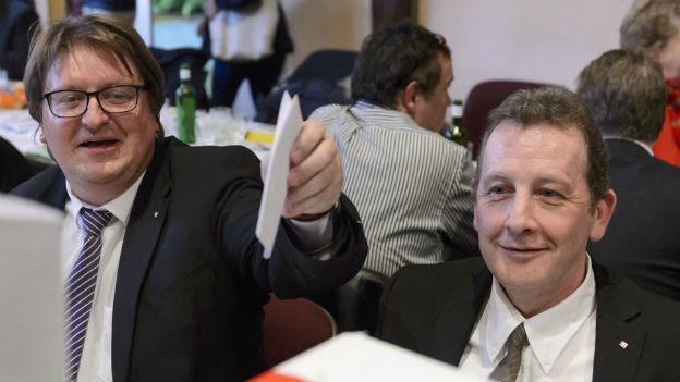 Claude-Alain Voiblet und Daniel Krieger