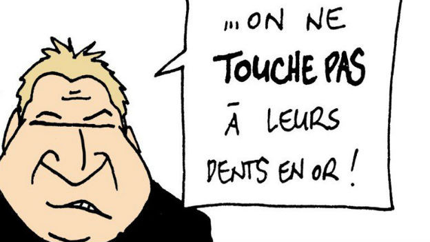 Toni Brunner als Karikatur
