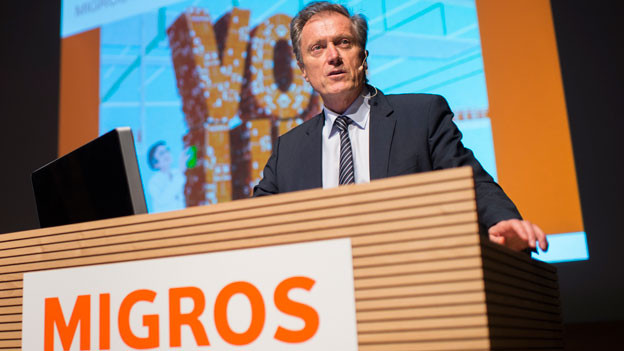 Herbert Bolliger, CEO Migros, an der Bilanzmedienkonferenz in Zürich am 31. März 2016