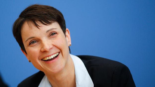 Portraitbild von AfD-Chefin Frauke Petry.