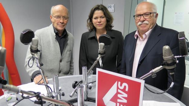 Hans Geiger, Michelle Beyeler, Lieni Füglistaller (v.l.n.r.)