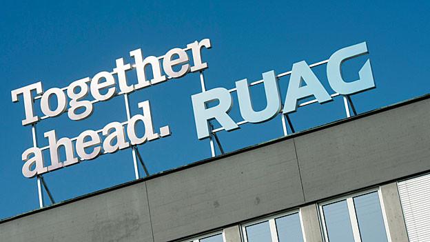 Das Logo der Ruag.