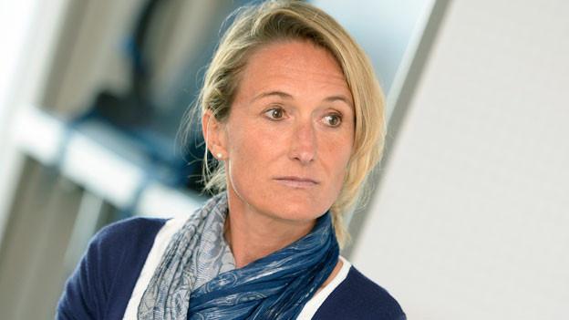 Die Aargauer Regierungsrätin Susanne Hochuli an einer Medienkonferenz auf dem Flughafen Zürich in Kloten am Samstag, 13. Februar 2016.