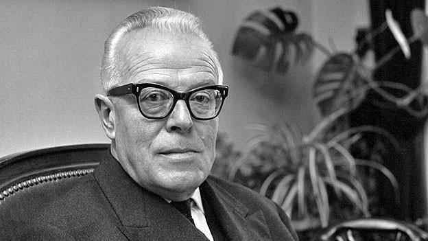 Bundesrat Jean-Pierre Graber auf einem Bild von 1970.