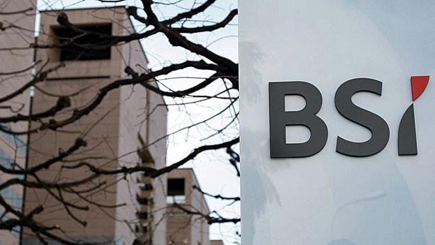 Schriftzug «BSI» am Geschäftssitz in Lugano.