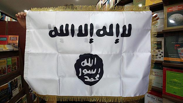 Eine Flagge des «Islamischen Staats».