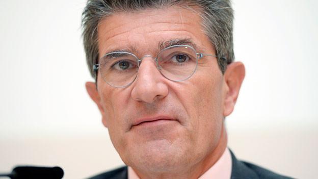 Patrick Odier, Präsident der Schweizerischen Bankiervereinigung, an einer Medienkonferenz in Zürich am Donnerstag, 17. September 2015.