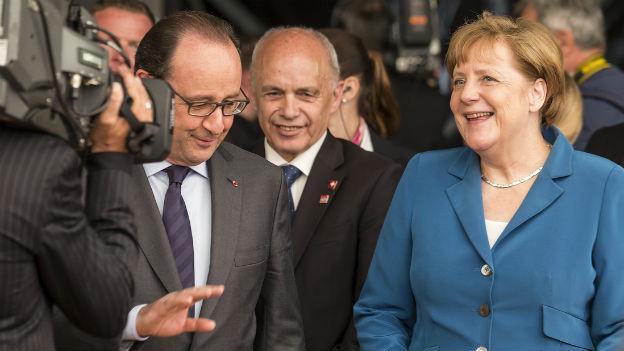 Merkel, Maurer und Hollande