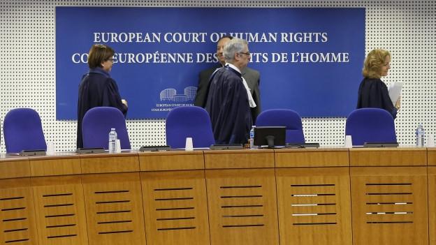 Die Richter am Europäischen Gerichtshof für Menschenrechte.