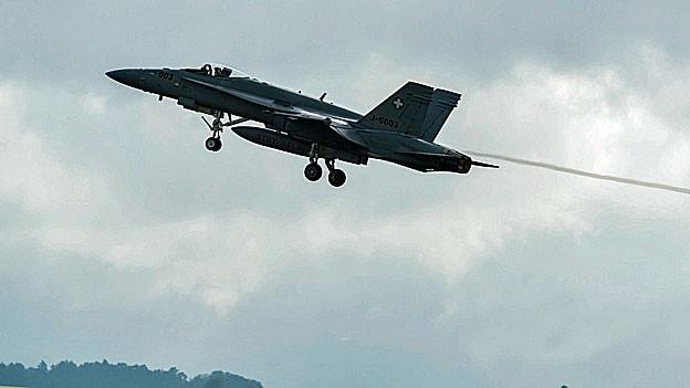 Eine F/A-18 der Schweizer Armee.