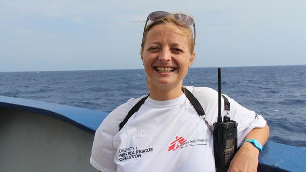 Antonia Zemp, Pflegefachfrau auf MSF-Rettungsboot.