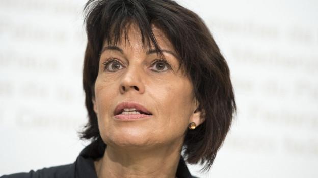 Doris Leuthard an einer Pressekonferenz mitte August in Bern.