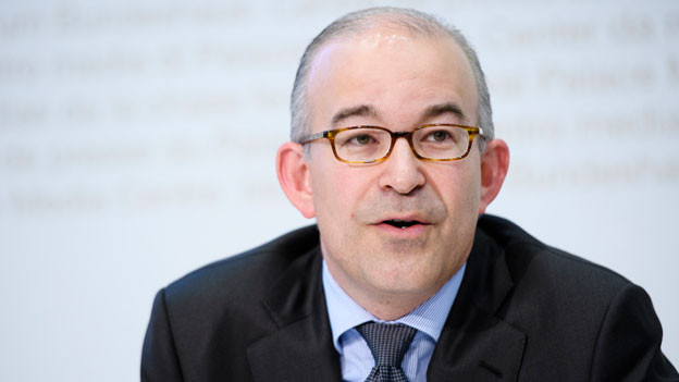 Gregor Rutz, SVP-Nationalrat, an einer Medienkonferenz in Bern vom 26. August 2016.